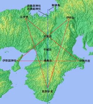 近畿の五芒星