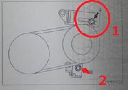 エアコンベルト交換2