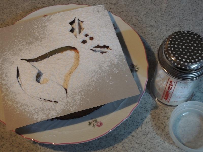 チーズケーキにデコレーション