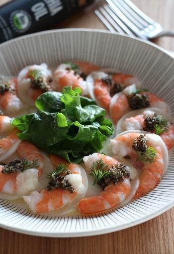 海老とカブのサラダ1