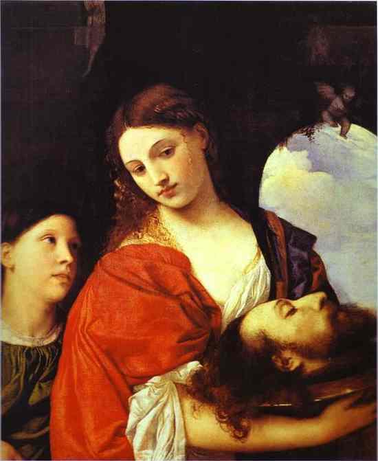 ティツィアーノ 『洗礼者ヨハネの首を持つサロメ』1515年頃