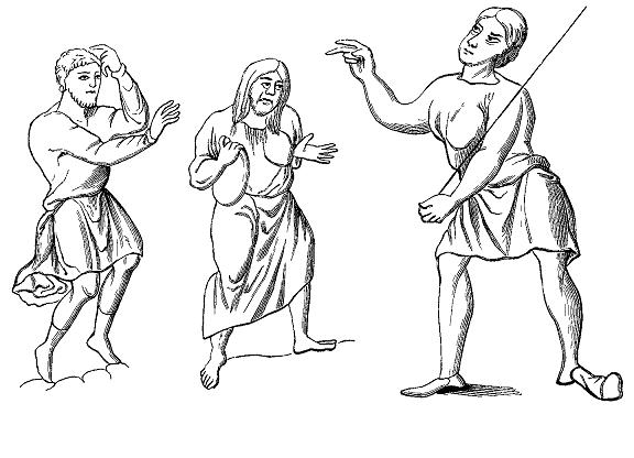 中世ヨーロッパの農奴の服装