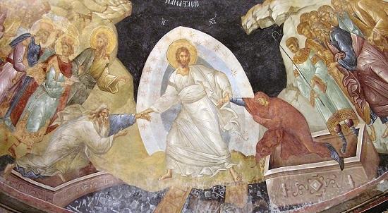 フレスコ画イコン 『復活』