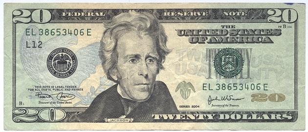 20ドル紙幣