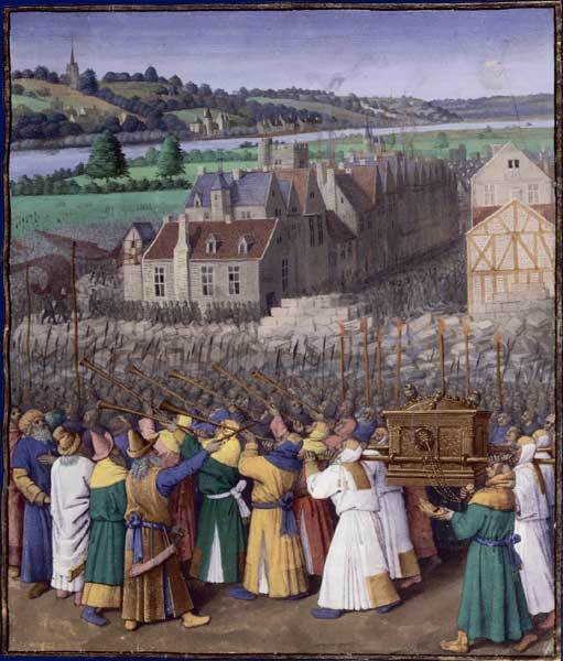 ジャン・フーケ『エリコの奪取』 1485年頃