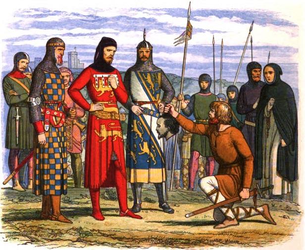 諸侯の私刑で斬首されたギャヴィストンを描いた絵画