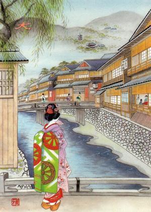 京の祇園 新橋あたり