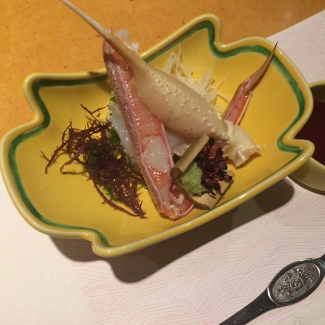 蟹のお刺身