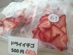 【写真】紅ほっぺのドライイチゴが店頭に並んでいる様子