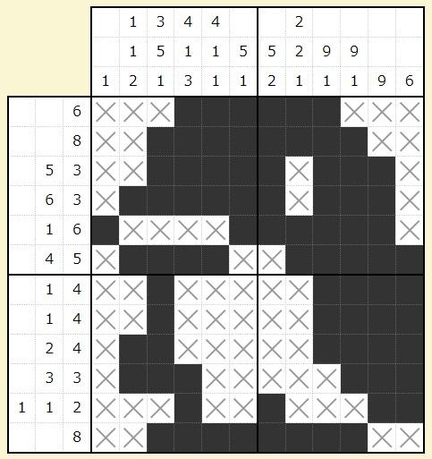 ビッグローブビンゴ2017春 お絵かきパズル答え
