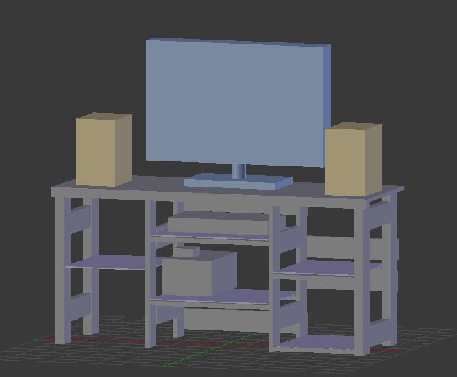 Blenderでテレビ台スケッチ