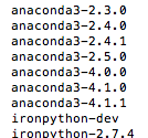 anacondaの最新バージョン