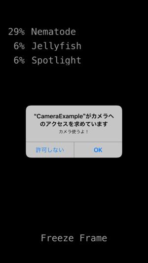 TensorFlow cameraサンプルスクショ1