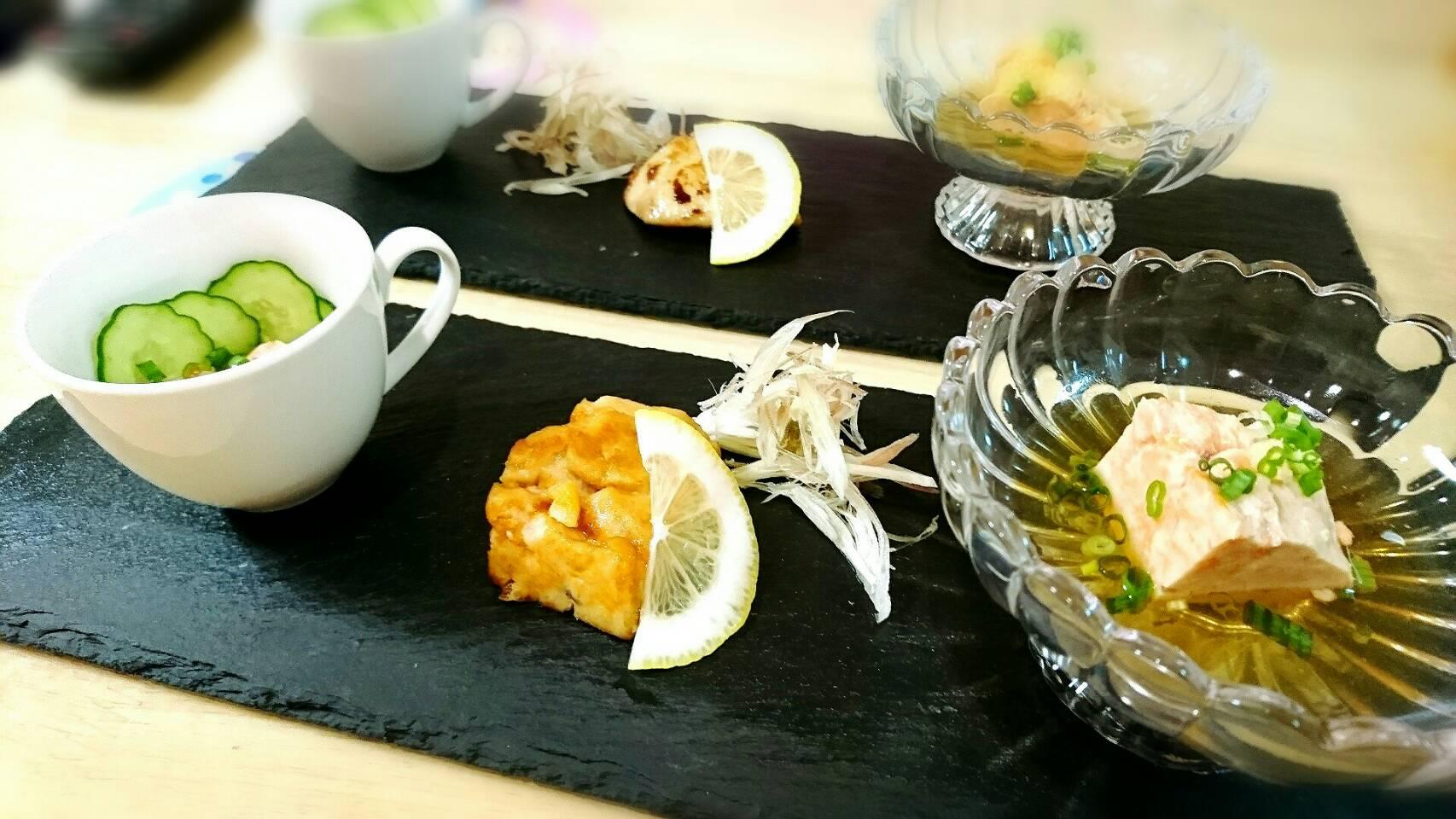 旬の味覚 アンキモ前菜3種