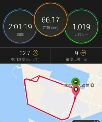 久々ソロライド&堺浜クリテ観戦(´▽`)