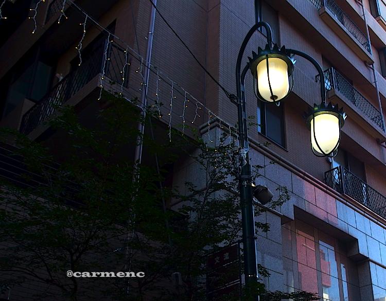 街灯とイルミ
