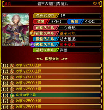 森蘭丸-SSR15 8凸