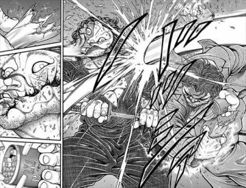 刃牙道15巻 本部以蔵 vs 宮本武蔵1