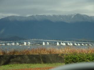 冬の比良山系