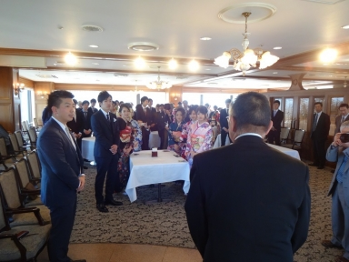 中村町連代表から激励の挨拶も