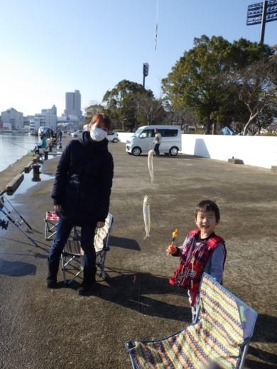 土浦港でワカサギ釣り (8)
