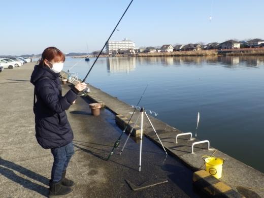 土浦港でワカサギ釣り (26)