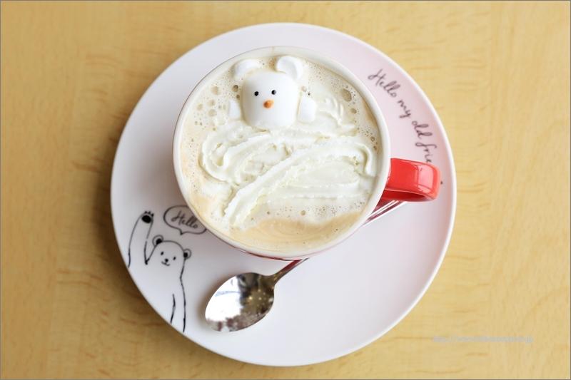 とべ動物園内の展望レストラン SKY GARDENにて、冬季限定「あま~い ピースコーヒー」です。
