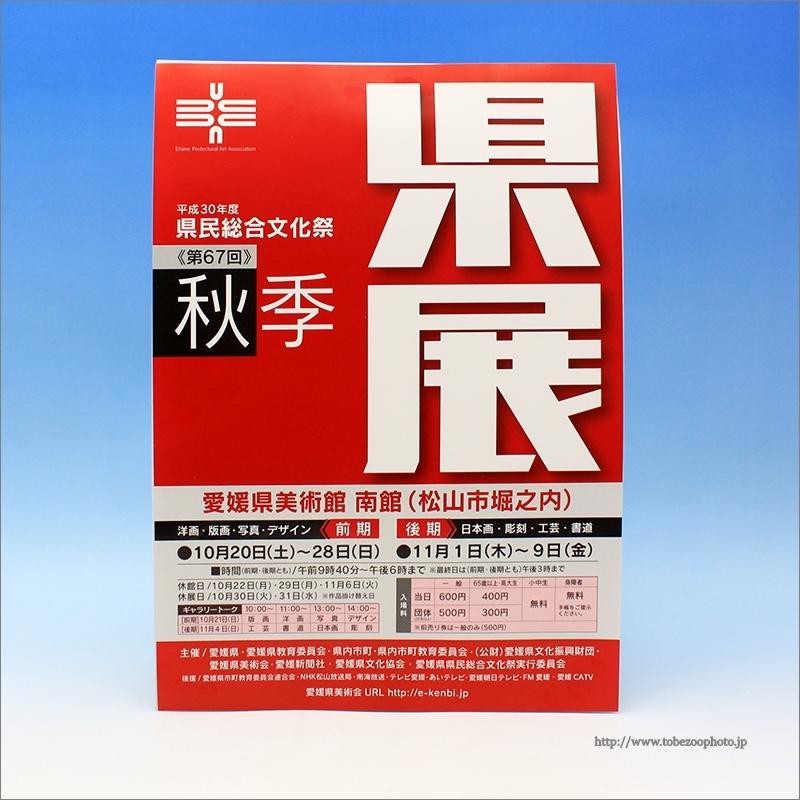 愛媛県美術館で開催予定の秋季県展のご案内です。