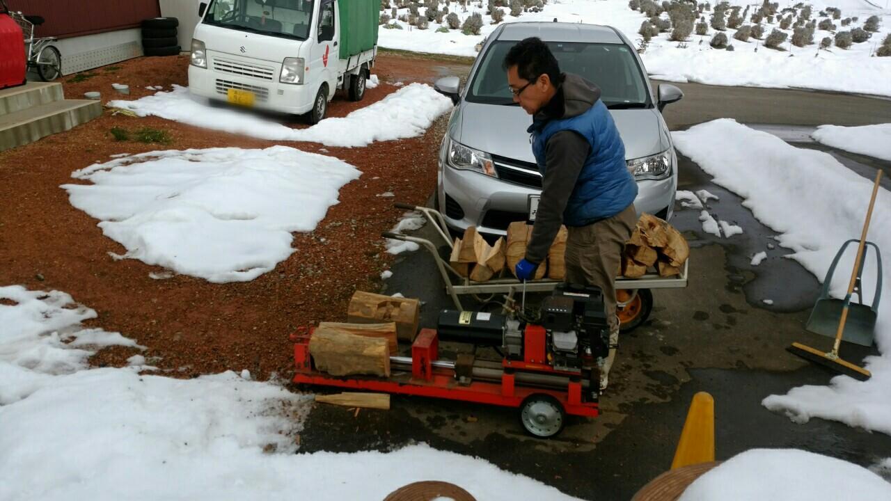 初の薪割り機に挑戦