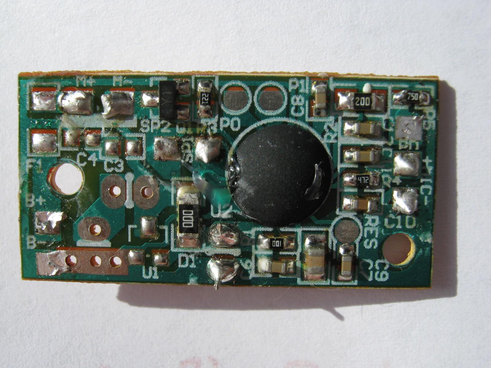 ミミクリーペット3(ボイスレコーダー・チェンジャー換装)元基板裏