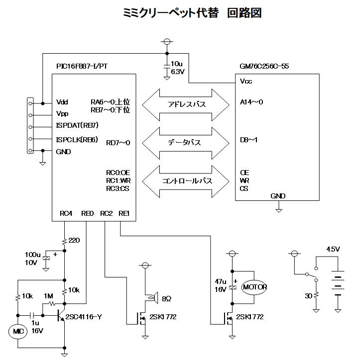 ミミクリーペット回路図