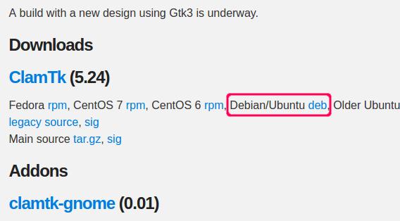 ClamTk 5.24 Debパッケージ ダウンロード