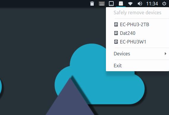 linux-indicator-usb Ubuntu USB 安全に取り外す