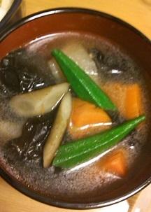 寒天根菜スープ