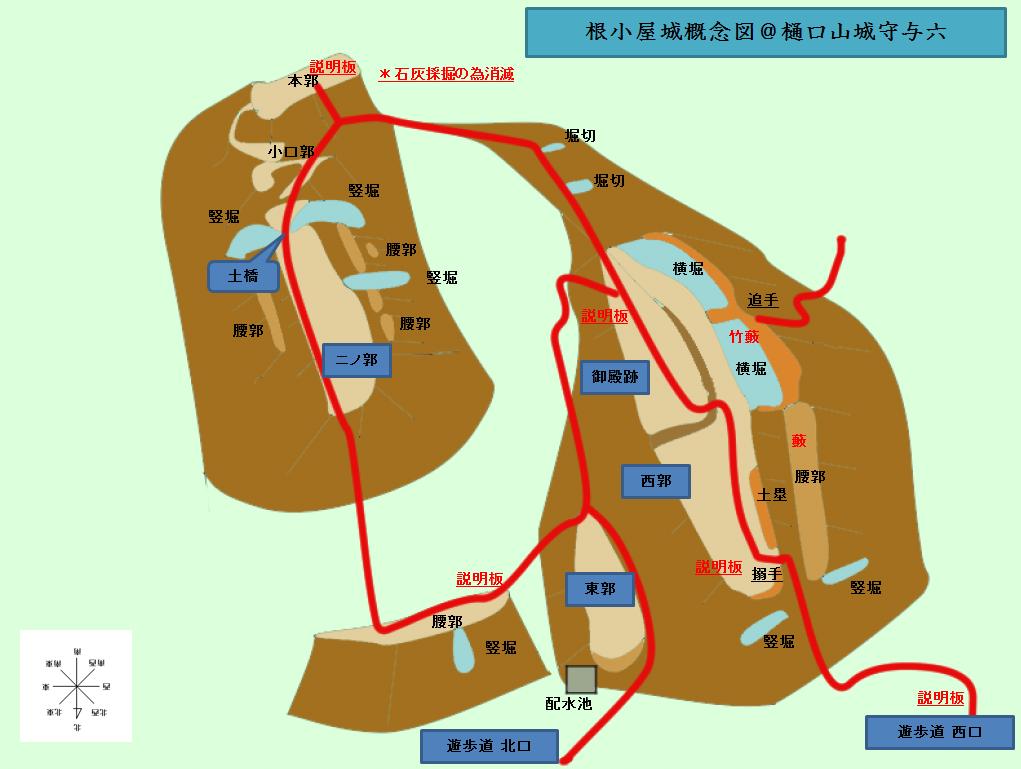 根小屋城概念図@ヤマシロ