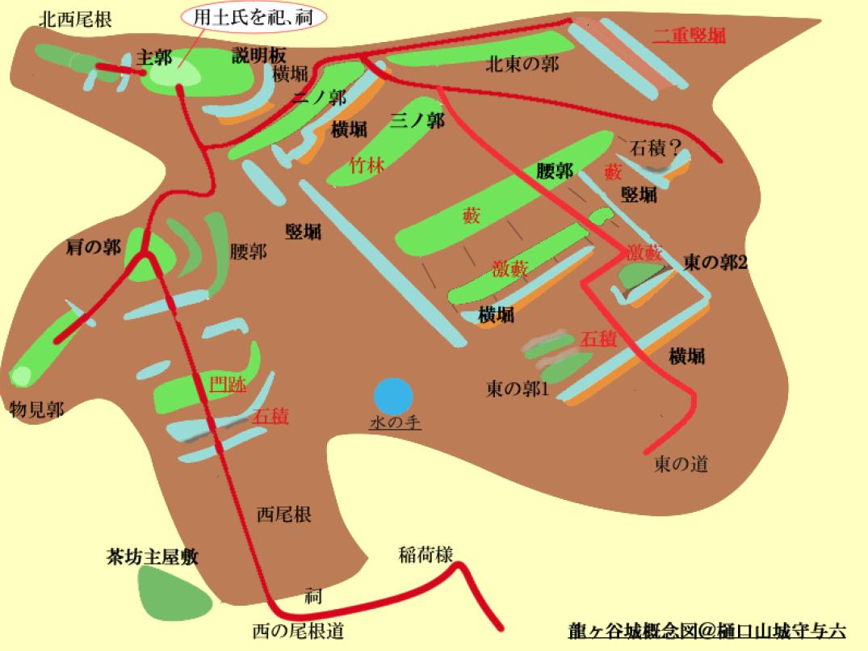龍ヶ谷城改概念図@ヤマシロ