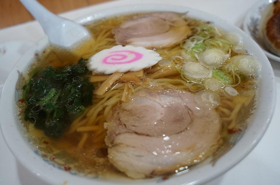 池田屋@佐野市 ラーメン+餃子3ケ