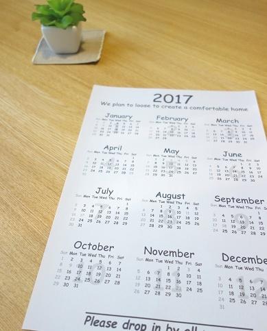 自作カレンダー①