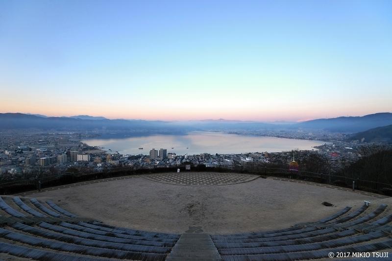 絶景探しの旅 - 0094 諏訪湖 早朝の立石公園 (長野県 諏訪市)